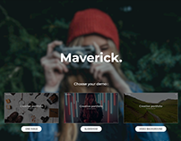 Maverick - Photography Portfolio Landing Page Template
