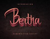 Free Font - Bertha Handwritten Script
