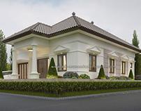 Mr. Faruq House Rumah Pojok Klasik Simple di Jombang