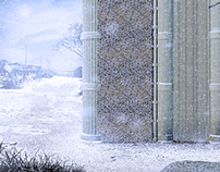 Reed Structure | Snow | Architectural Render