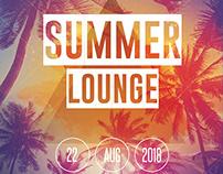Summer Lounge - Freebie PSD Flyer Template