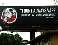 Vaping Santa Billboard
