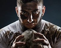 Portrait's of rugby players.