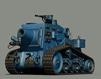 Cartoon Tank with textures