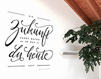 Wall lettering for a meeting room