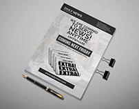 Newspaper Launch Flyer