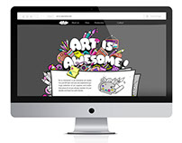 Art is Awesome - webdesign concept