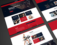 UI Design for Powerful Sports Template - Gymghor