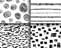 Hand Drawn Abstarct and Geometrical Patterns Collection