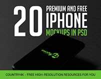 20 Premium and Free Photo-Realistic iPhone MockUps