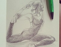 Yoga Poses Drawings