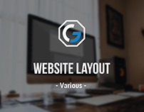Website Layout - Various