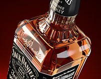 Jack Daniels - packshot rendering