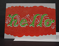 Hello Letterpress Greeting Cards