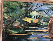 Suraya mural oil painting