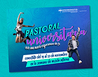 convocatoria jóvenes - Pastoral Universitaria