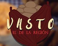 Creación de marca / Chocolate VASTO (logo y aplicación)