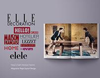 Dergi Sayfa Tasarım / Magazine Page Layout Design