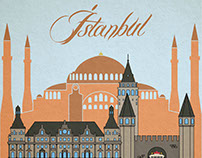 Istanbul Illustration with Miniature Style
