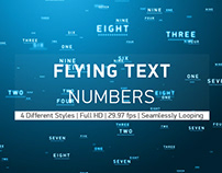 Flying Text Numbers
