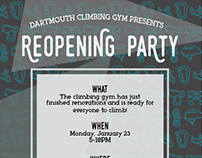 Climbing Gym Party poster