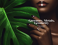 Greenery, Metals, Geometry for Ellements Magazine
