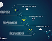 Free Modern Data Business Infographics Vector Template