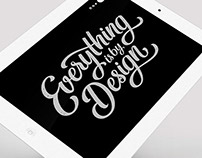 Lettering: Everything is by Design