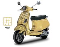 Vespa scooter | illustrator mesh tool