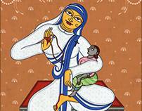 Illustrated Women who give Hope in Pattachitra