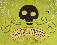 Halloween House Warming Invitations