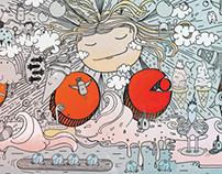 Illustration for ice cream vagonete