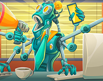 "Company Promo: ""Clank"" The Robot!"
