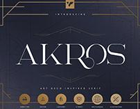Akros - Art Deco Serif + Extras