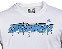 Series of vectorised urban and street t-shirt designs