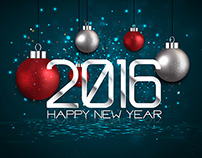 Happy New Year 2016  Greeting Cards