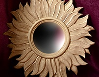 Flaming flower mirror frame