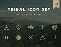 Native American - Tribal Icon Set