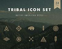 Native American - Tribal Icon Set