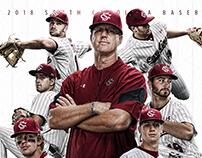 2018 Gamecock Baseball Poster