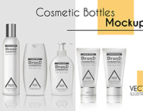 Vector realistic bottles set collection mockup pt.1