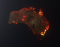 Australia is Burning / A 3D Visualisation