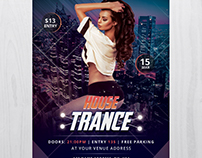 House Trance - Free PSD Flyer Template