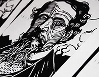 2018 LINOCUT PORTRAITS, FEBRUARY