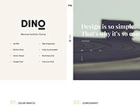 DINO Creative Agency Portfolio PSD Template