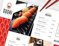 Sushi Food Menu & Delivery Templates (Asia/Japan)