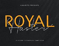 Royal Haster | Elegant Signature Font Duo (Free)