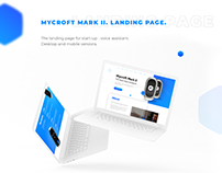 Landing Page for Voice Assistant