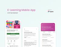 E - learning app free download figma
