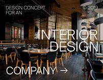 Interior Design Company - Website and Corporate Design